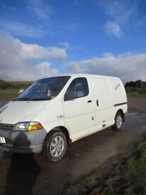 Toyota Hiace Panel Van with low genuine mileage