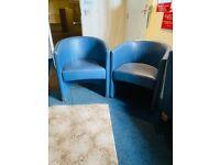 Leather armchairs x2 (READ DESCRIPTION)
