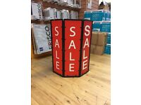 SALE / CLEARANCE Bin / Bucket / Compartment / Sign for shop