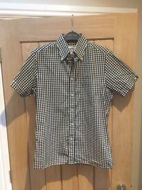 Men's Original Brutus Trimfit Button Down Shirt Size Small Black/White