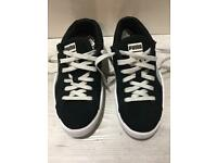 Size 4 Black and white puma trainers