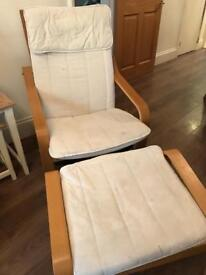 IKEA Paong Chair with Footrest