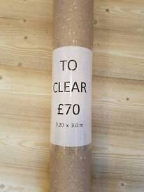 Beige fleck vinyl flooring 3.2m x 3m
