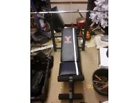 York bench for sale plus weights bar used a couple times £25