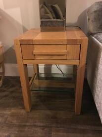 Wooden console table and side table