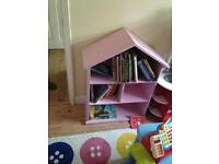 Pink dolls house shelf (without books)