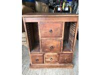 Beautiful wooden storage cabinet