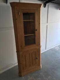 Solid Pine Floor Standing Corner Cabinet