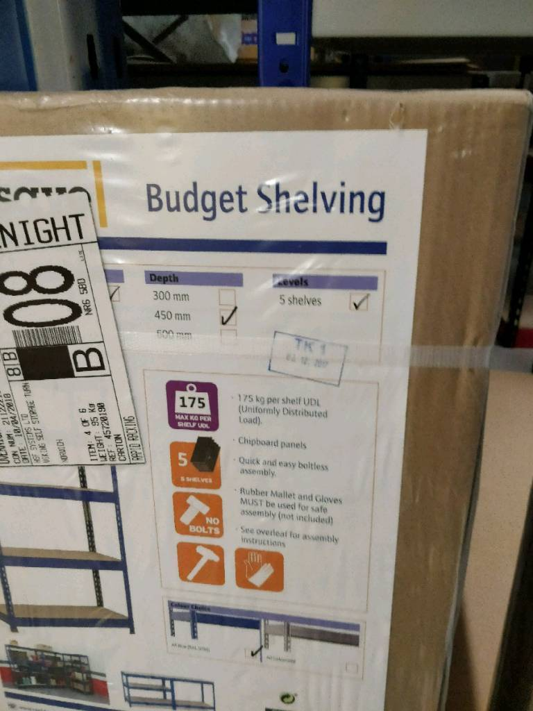 2 sets of racking/shelving