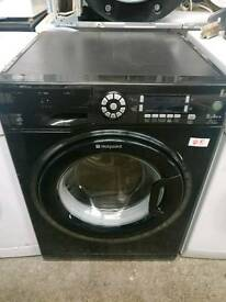 Hotpoint 9kg Black Washing Machine, FREE LOCAL DELIVERY AND INSTALL