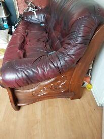 Italian 3 piece leather sofa