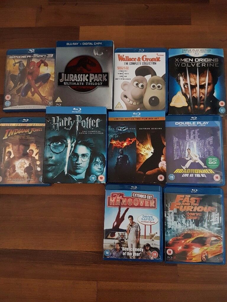 Selection of blu ray movies and box sets