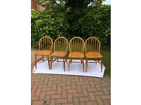 4 Ercol wooden chairs