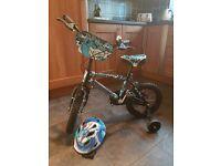 Childs bike includes helmet
