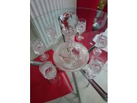Tyrone crystal decanter & 6 glasses