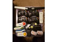 Xbox 360 Slim 250GB, Kinect, wireless controllers, microphones, games and LOADS more!