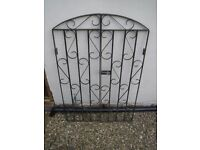 Black wrought iron gates.Good quality blacksmith made gates.2 pairs available. See description.