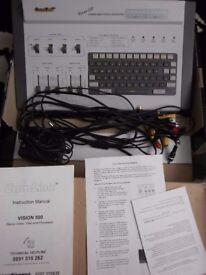 vintage camlink camcorder stereo processor & titler kit system 40