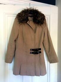 Next women's coat, size 10, faux fur collar