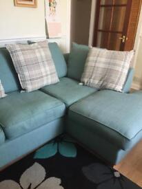 Mint green corner sofa