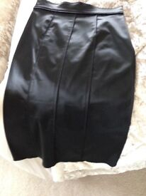 DOLCE & GABBANAS Leather skirt