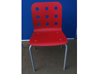 Red plastic chair / study chair (Delivery)