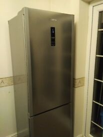 Frost Free Fridge Freezer Hoover HFF618DX A+ - Stainless steel look