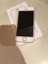 *iphone se 16gb rose gold unlocked mint condition*