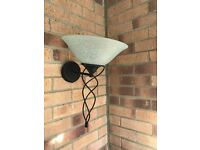 Pair of Indoor wall light black and glass