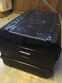 Metal chest.