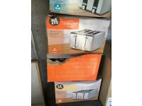 Spares or repairs toaster x 4