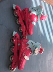 Adjustable roller blades
