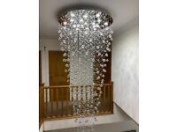 Beautiful Crystal Stairwell Chandelier