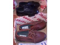 L@@K: TWO PAIRS OF MENS TOTECTOR SAFETY SHOES , SIZE 6 , BRAND NEW.