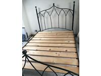 4ft 6 STANDARD DOUBLE 'WROUGHT IRON' bed frame