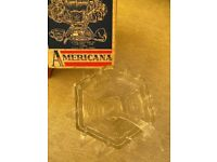 Vintage Glass Americana Punch Bowl Set 27 piece (includes 12 cups/hooks/ladle)