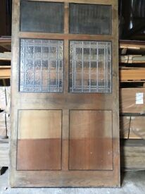 Glazed vintage screens removed from bar/pub