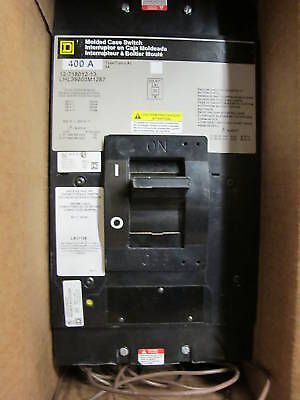 Square D Lhl36000m1287 400 Amp 600 Volt 3 Pole Wuvr Molded Case Switch New