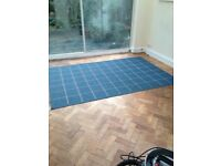 Large blue patterned rug