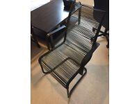 IKEA wire Chair BLack