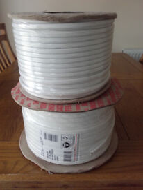 2- Drums of white electrical wire.