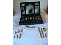 VINERS GOLD PLATED CUTLERY