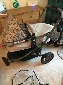 Buggy pushchair Mothercare xpedior travel system 3-1 pushchair/Pram tusk edition