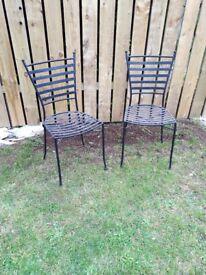 4 Iron garden chairs