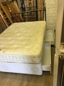 Double bed with mattress and headboard free delivery in Hull