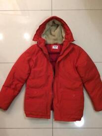 Orange winter coat men's size m