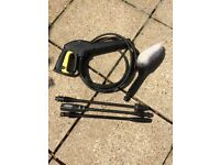Karcher pressure washer accessories - trigger, brush and 3 lances