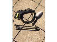 Karcher pressure washer accessories - trigger, brush and 3 lances