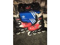 Monster roller blades size 2-5 with protective pads