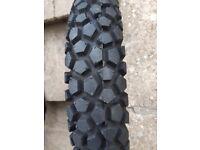 Metzeler motorcycle tyre new.